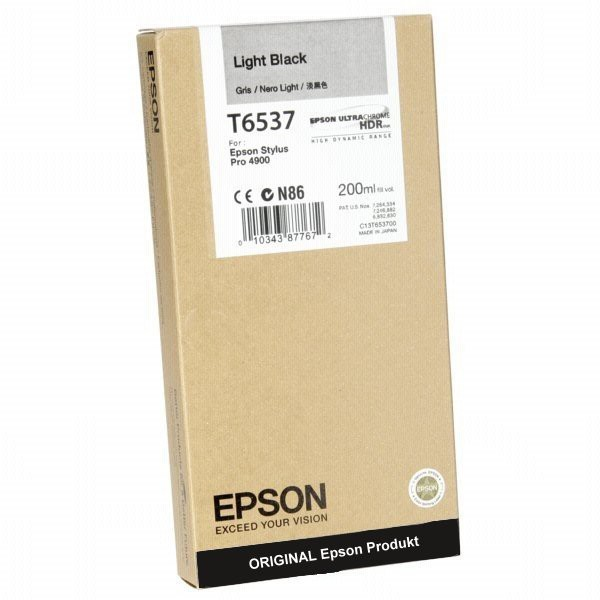 T6538MBK - C13T653800 - Epson Original Photo Black Tintenpatrone - Inhalt: 200 ml